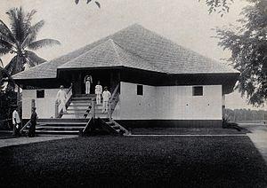 Marudi, Sarawak - Exterior view of the Fort Hose in 1896