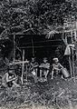 Sarawak; four native Kayan hunters in their camp. Photograph Wellcome V0037407EL.jpg
