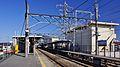 Sashiogi Station platform 2 looking east 20140315.JPG