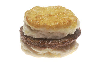Biscuit (bread) - Image: Sausage biscuit