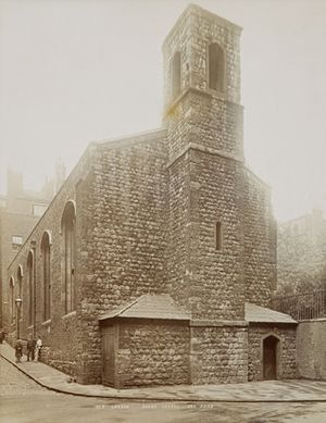 Savoy Chapel - The Savoy Chapel c 1890