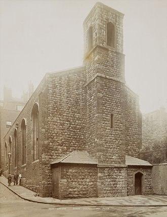 Savoy Chapel - The Savoy Chapel c 1890