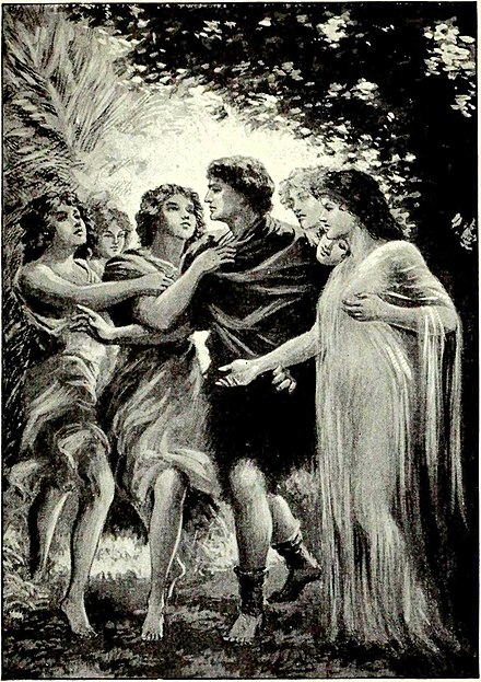 Scene from Parsifal from the Victrola book of the opera, 1917. Scene from Parsifal from the Victola book of the opera (1917).jpg