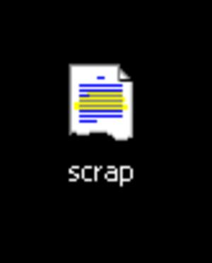 Shell Scrap Object File - Image: Screenshot SHS hile on windows desktop