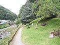 Seats overlooking the River Lyn - geograph.org.uk - 939673.jpg