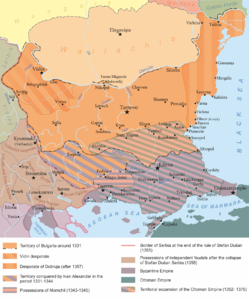 Second Bulgarian Empire under the rule of Ivan Alexander (1331-1371).png