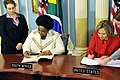 Secretary Clinton and South African Minister Maite Nkoana-Mashabane Sign the PEPFAR Agreement.jpg