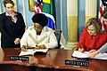Secretary Clinton and South African Minister Maite Nkoana-Mashabane Sign the PEPFAR Agreement.jpg