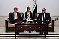 Secretary Kerry Sits With Iraqi Prime Minister al-Maliki Before Meeting in Baghdad June 2014.jpg
