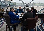 Secretary Kerry Speaks With Astronaut Scott Kelly, Cosmonaut Mikhail Kornienko, and a NASA Official in Moscow (25731249250).jpg