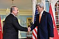 Secretary Kerry and Turkish Foreign Minister Cavusoglu Shake Hands After Addressing Reporters in Washington (26006603492).jpg