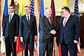 Secretary Tillerson Shakes Hands With Lithuanian Foreign Minister Linkevicius (33545969372).jpg