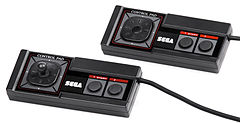 Sega Master System controller, with and without thumbstick