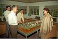 Selja Inspecting Science City Model - Science City Site Office - Calcutta 1994-02-17 181.JPG