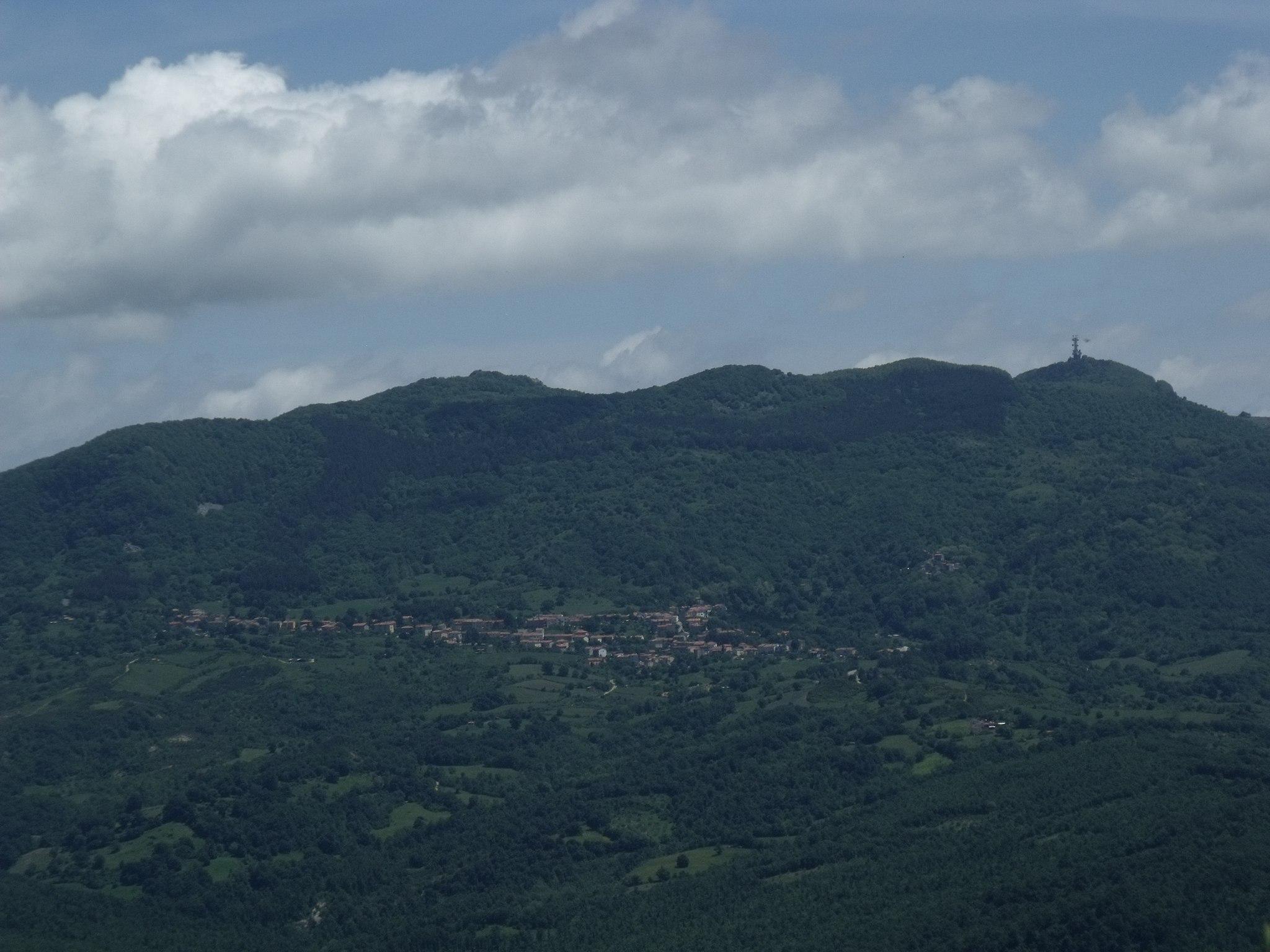 Panorama of Selvena, hamlet of Castell'Azzara, Monte Amiata