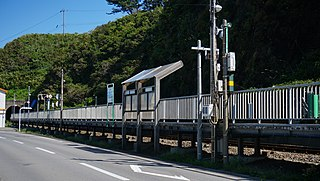 Senjōjiki Station Railway station in Fukaura, Aomori Prefecture, Japan