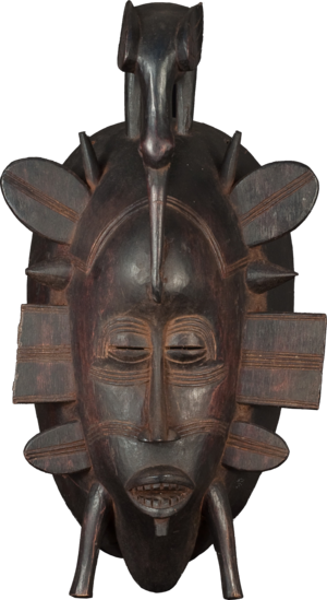 Wadsworth Jarrell - A mask created by the Senufo people, which would influence Jarrell's paintings and sculpture.