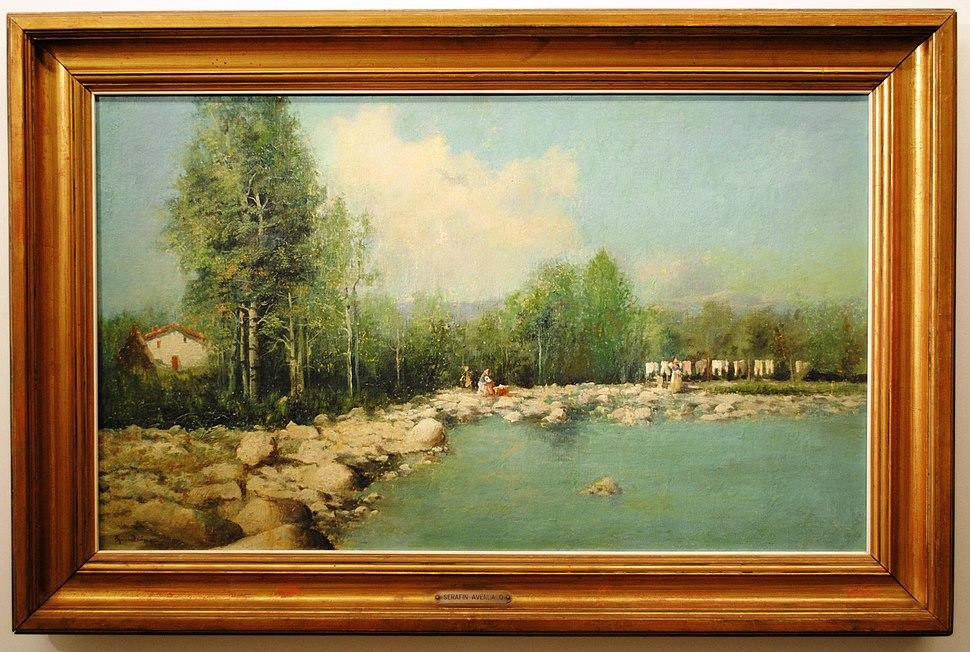 Serafín Avendaño, Paisaxe, 1895, óleo-lenzo, 58x99cm