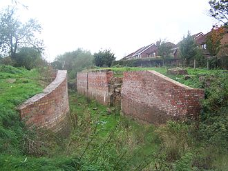 Derby Canal - The Shacklecross Lock (Borrowash Bottom Lock) undergoing restoration in 2006