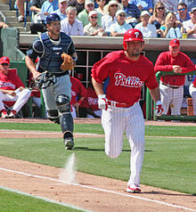 Shane Victorino standing in the outfield