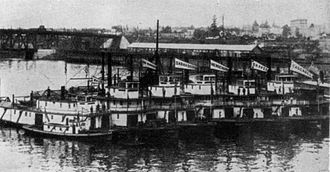 Shaver Transportation Company - Shaver Transportation fleet, circa 1900.