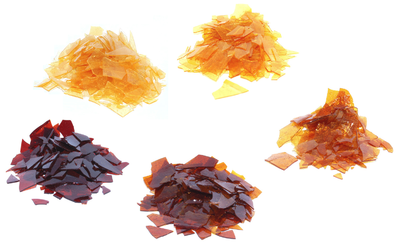 Some varieties of shellac
