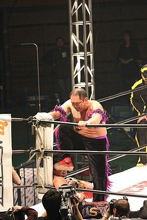 Shinjiro Otani - Otani stomping on Tajiri.