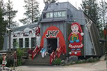 Shop at Santa Claus' Workshop Village (Joulupukin Pajakyla) near Rovaniemi IMG 2716.jpg