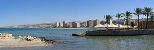 Sidon - Sidon with a view of the Mediterranean coast