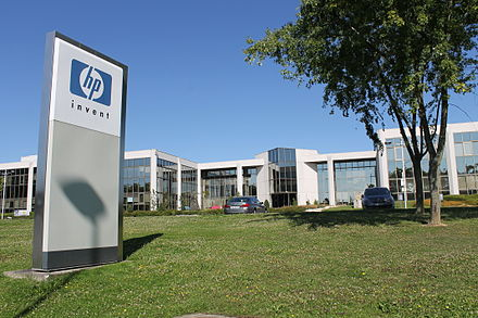 The research center of Hewlett-Packard in the Paris-Saclay cluster, France Siege HP courtaboeuf.JPG