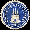 Siegelmarke Direction der Gas - & Wasser - Werke - Altona W0245873.jpg
