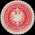 Siegelmarke Reichsbevollmächtigter für Zölle und Steuern Carlsruhe W0311365.jpg