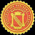 Siegelmarke Stadtrat der Residenz - Stadt Karlsruhe - Fidelitas W0233748.jpg
