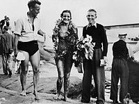 Sigge Bergman, Sally Bauer and Staffan Tjerneld 1938.jpg
