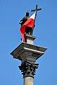 Sigismund's Column in Warsaw on Consitution Day.JPG