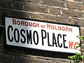 Sign for Cosmo Place, WC1 - geograph.org.uk - 1304778.jpg