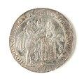 Silvermedalj, bröllopspenning - Skoklosters slott - 109203.tif
