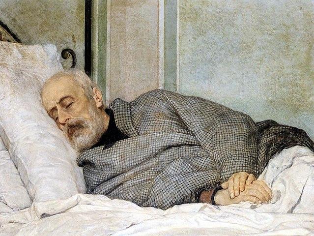 Джузеппе Мадзини на смертном одре, Сильвестро Лега, 1873