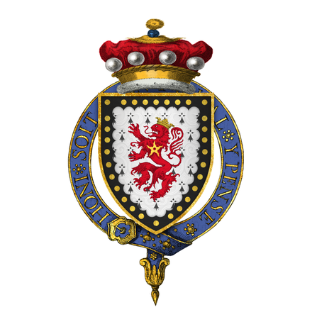 Coat of arms of Sir John Cornewaille, 1st Baron Fanhope and Milbroke, KG