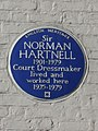 Sir NORMAN HARTNELL 1901-1979 Court Dressmaker lived and worked here 1935-1979.JPG