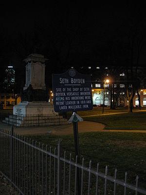 Seth Boyden - Site of Seth Boyden's workshop in Newark, NJ.