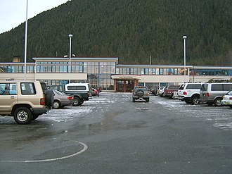Sitka High School - A picture from the Sitka High School parking lot