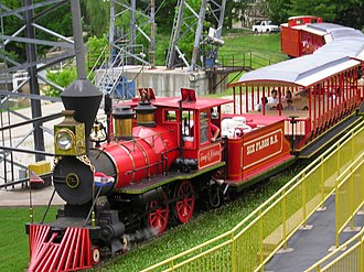 Tommy G. Robertson Railroad - Image: Six Flags Railroad St. Louis