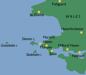 Skokholm - Skokholm and its neighbouring islands
