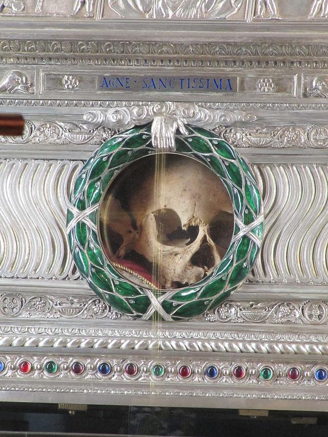 st agnes skull