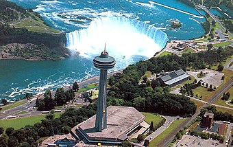 Skylon Tower as seen from a helicopter on the Canadian side. Skylon-2.jpg