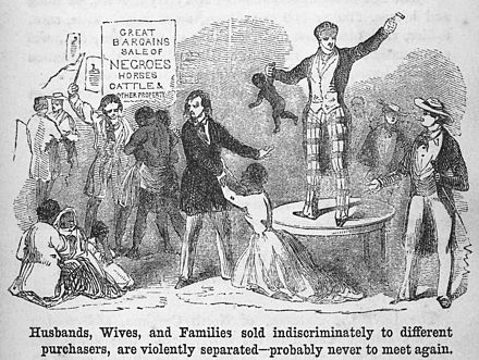 A slave auction, 1853 Slavery19.jpg
