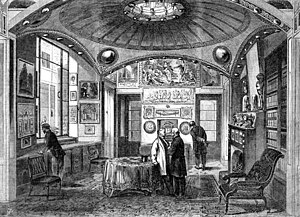 Sir John Soane's Museum - The Breakfast Room as shown in the Illustrated London News. 1864.