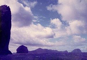 Soay, St Kilda - Image: Soay and Hirta from Stac an Armin