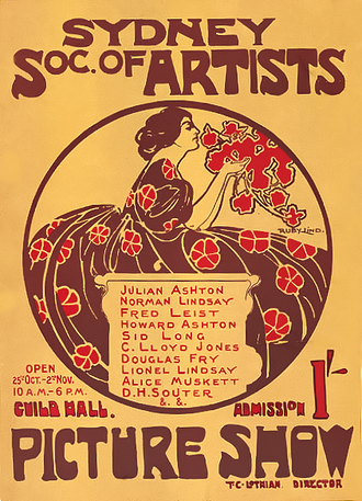 Society of Artists (Australia) - Image: Society of Artists, Sydney poster 1907